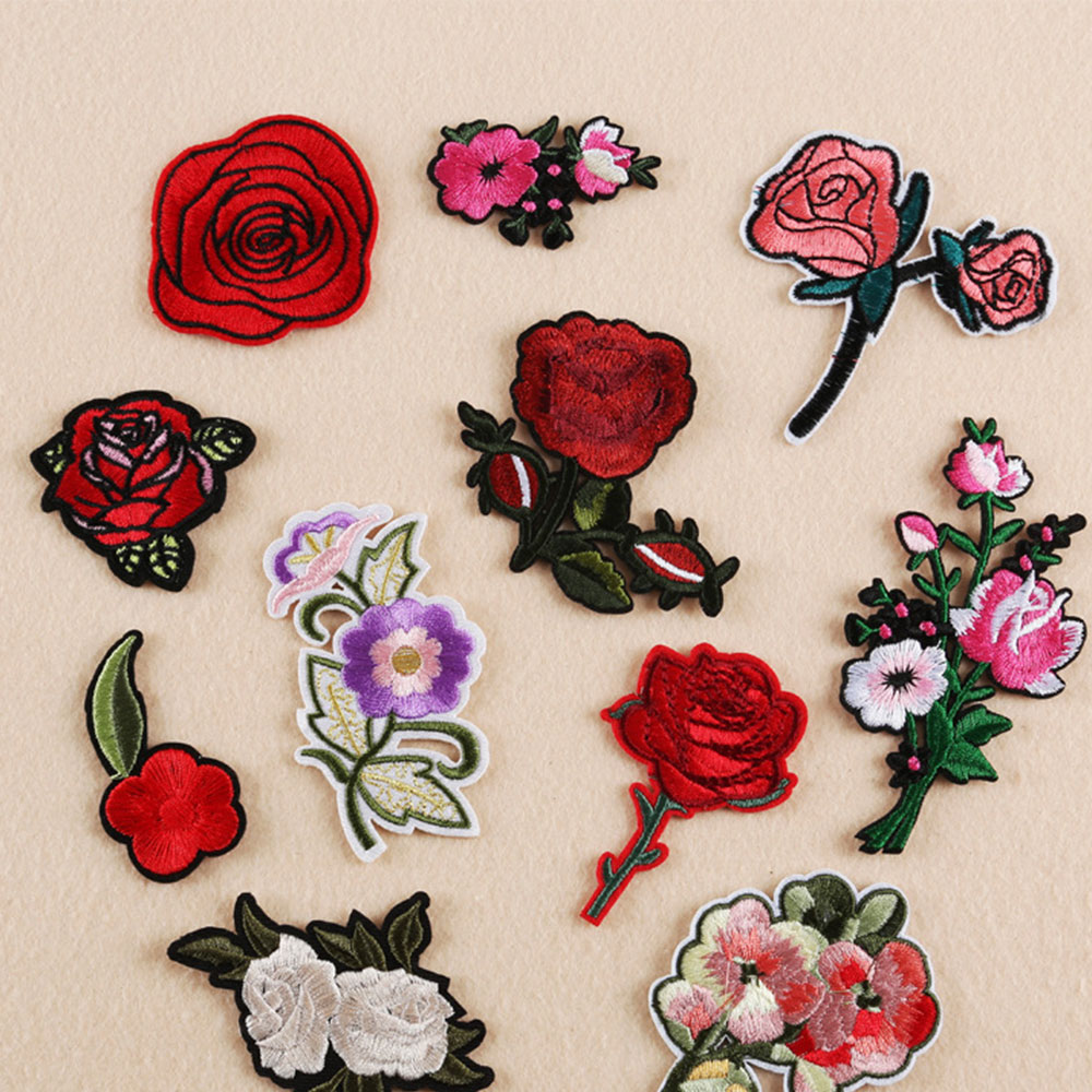 Floral Fairy Tale Unicorn Iron Sew on Embroidered Appliques Patches DIY Patches