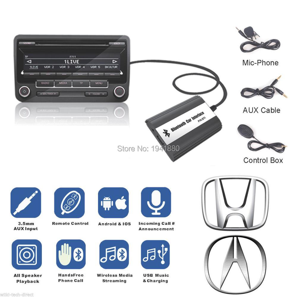 DOXINGYE,USB AUX Bluetooth Car Digital Cd Changer Adapter Car MP3 Player Music Bluetooth handsfree For Honda Accord Civic CRV
