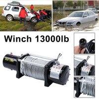 Новые 12 В электрическая лебедка трос Ёмкость ДО 13000 фунт с удаленным Управление автомобили внедорожные двигатели подъемная лебедка
