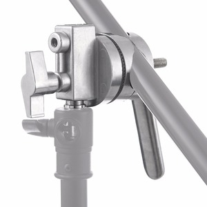 Image 5 - Meking 4 in 1 Full Metal Grip Head Long Handle For Boom Arm Extension Pole Cross Bar Light Stands Heavy Duty C stands Studio