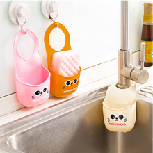 New Style Bathroom Carton Hook Shelves Soap Holder Kitchen Dish Cloth Sponge Holder Storage