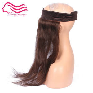 Alitsingtaowigs Lace-Grip Head-Band Kosher-Wigs for 100%European