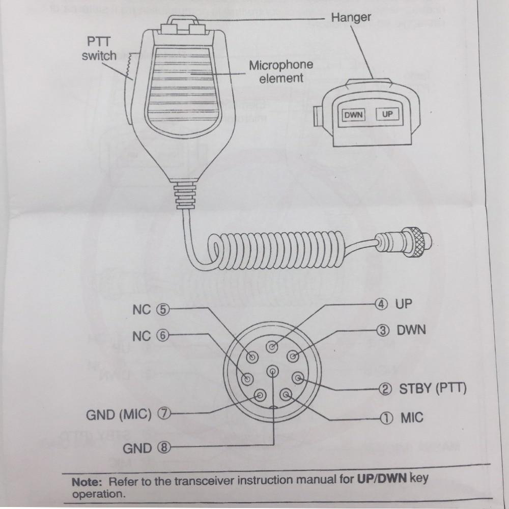 Für Kenwood MC 43S 8 PIN Dynamische Hand Faust Mikrofon Up/Down Tasten  Amateurfunk für TS 590S/TS 990S/TS 480SAT in Für Kenwood MC-43S 8 PIN  Dynamische Hand ...