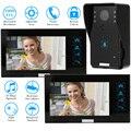 """KKmoon 7"""" TFT Video Door Phone HD 1000TVL Home Intercom Doorbell Recording 1 Rainproof Doorbell Camera And 2 Hands Free Monitor"""