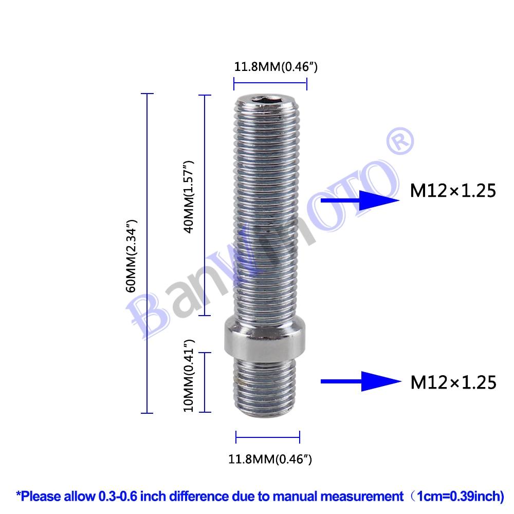 1 個拡張ホイールスタッド変換背ラグボルトねじアダプタキット高品質 (M12x1.25 、 M12x1.5 、 m14x1.25 、 M14x1.5)