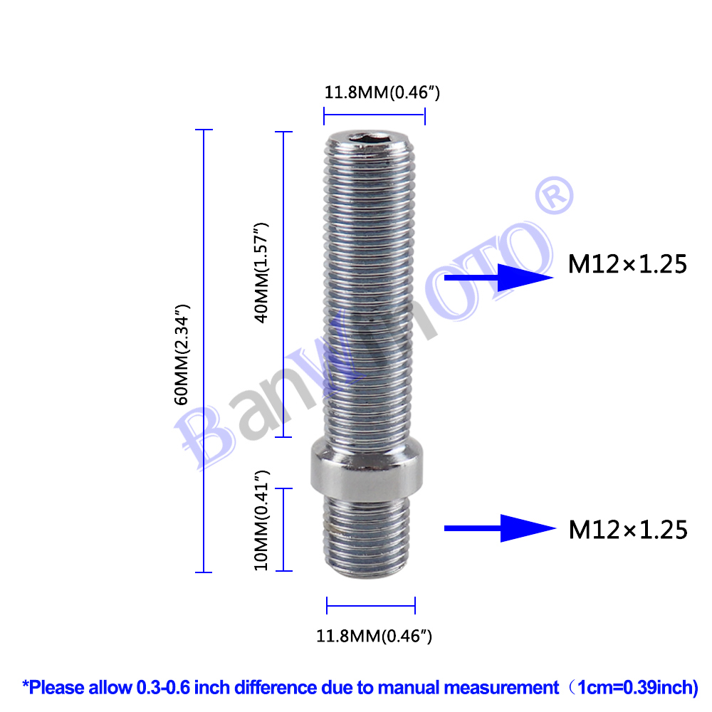 1 pcs Ruota Esteso Borchie di Conversione Alto Lug Bulloni Vite Kit Adattatore di Alta Qualità (M12x1.25, M12x1.5, m14x1.25, M14x1.5)