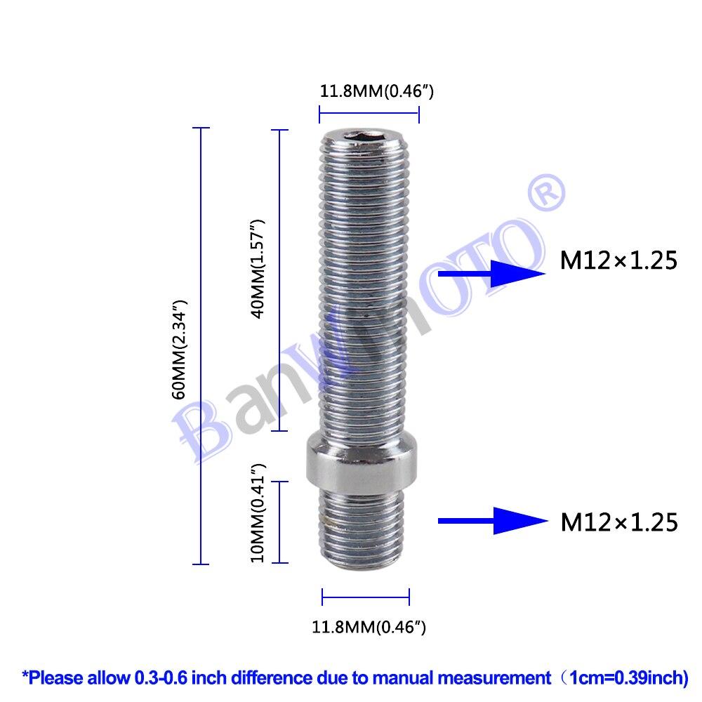 1 peças estendidas parafusos de roda conversão tall lug parafuso adaptador kit alta qualidade (m12x1.25, m12x1.5, m14x1.25, m14x1.5)
