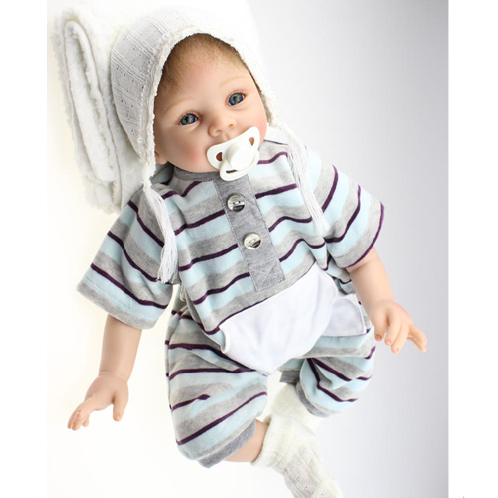 Cute Vivid Newborn Doll Silicone Reborn Dolls with Clothes, 20 Inch Lifelike Baby Reborn Doll Toys for Children hot newborn doll lifelike baby reborn doll with clothes fashion 37 cm cute silicone reborn dolls toys for children