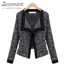 New European Style Long Sleeves Bomber Jacket Turn-down Collar Casual Knitted Cardigan Loose Type All-match Female Coat ZWS25