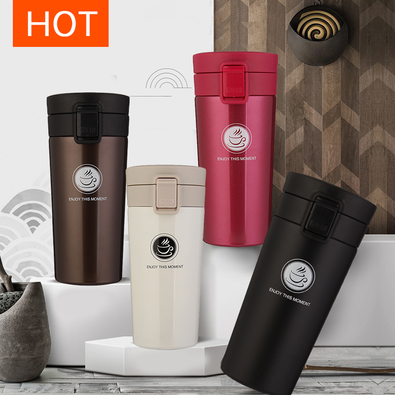 380ml Double Wall Stainless Steel Vacuum Flasks Car Thermo Cup Coffee Tea Milk Travel Mug Thermol