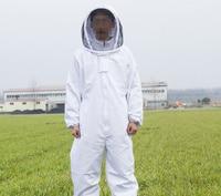 Beekeeper Hive Accossories White Cotton Beekeeping Jacket Veil Beekeeper Equipment Tools Hat Sleeve Suit With Hat