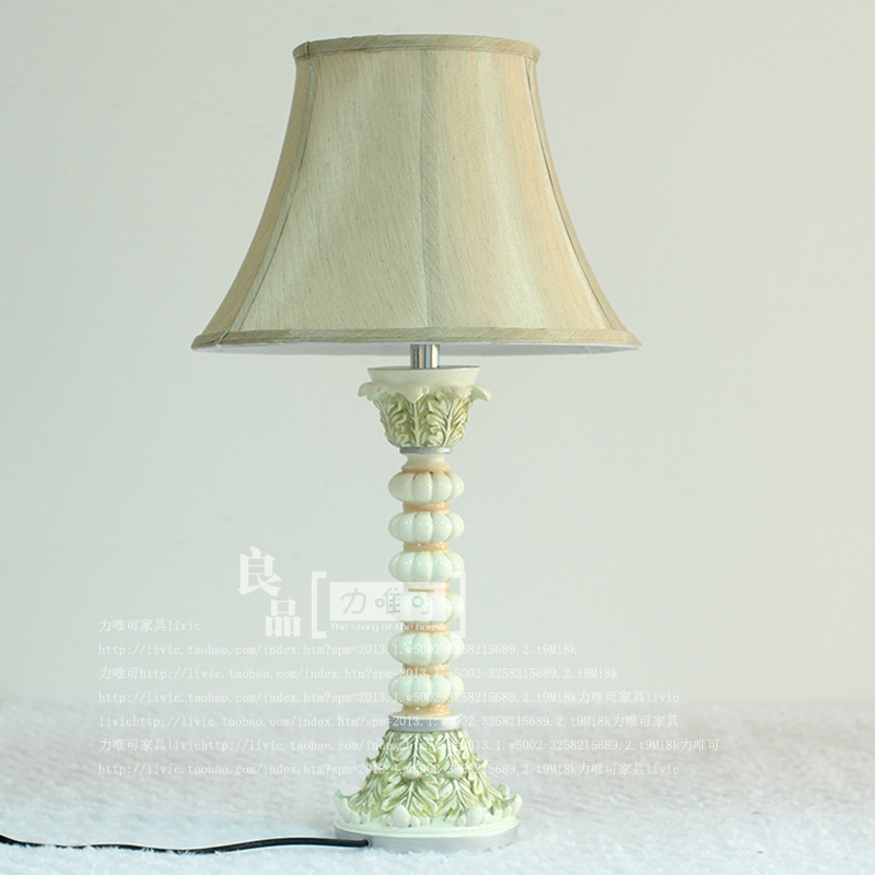 где купить European pastoral style retro painted resin decorative craft lamps living room lamp bedroom bedside lamp Decoration по лучшей цене