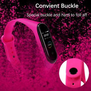 Image 5 - BOORUI for xiaomi mi band 4 strap new fashional colorful miband  5 strap silicone mi band 4 belt replacement for mi band 3 4 5