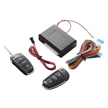 Универсальный Автомобильный Автоматический Автозапуск система кнопка старт Стоп светодиодный Светодиодный Брелок центральный Комплект Д...