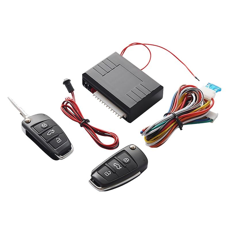 Universal Auto Auto Keyless Entry System Button Start Stop LED Schlüsselanhänger Zentrale Kit Türschloss mit Fernbedienung
