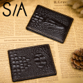 Men's Designer Wallet Casual ID Card Holder Alligator Men driver's license folder Split leather credit card holder Wallets