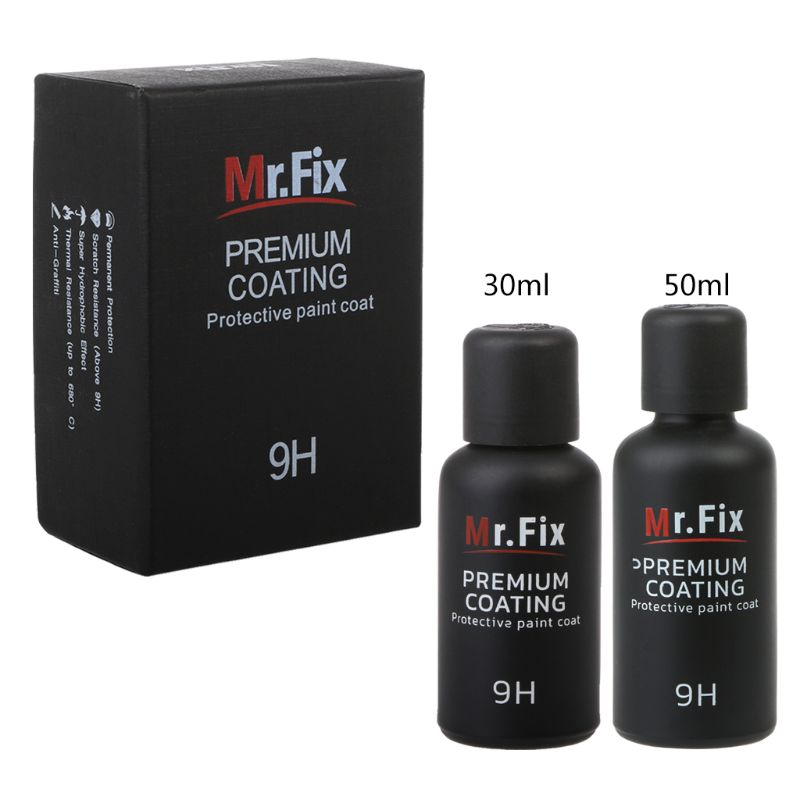 New 1 Set 9H Car Oxidation Liquid Ceramic Coat Super Hydrophobic Glass Coating Set Car-Styling
