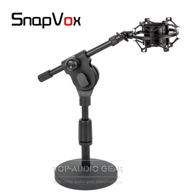 Desktop Tabletop Suspension Spider Microphone Shock Mount Holder Shockproof Mic Stand For SHURE KSM27 KSM44A KSM 27 44 A 44A