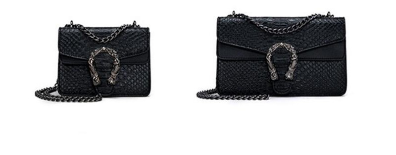 Luxury Handbags Women Bags Designer 2018 Alligator PU Leather Version Of Black Blue Gray Clutches Chains Ladies Crossbody Bags 16