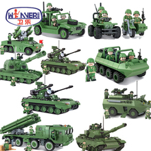 Military Series Tank Rockets Missile Model DIY Legoes Building Blocks Toys Educational Bricks For Children Gifts