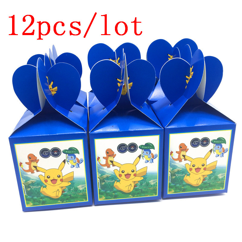 12pcs Lot Cartoon Pokemon Go Theme Party Goods Pokemon Candy Box