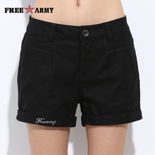 Womens Shorts Summer Fashion Casual 100% Cotton 4 Solid Colors Short Pants Brand Clothing Black Sexy Hot Woman Size 26-31