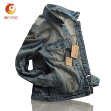 Denim Jacket Men Coats Casual Plus Size 3XL jacket Cotton Jeans Jacket Outwear Turn-down Collar Slim Fit jaqueta jeans masculina