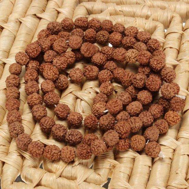 Pulsera de Meditación Budista para práctica de meditación, Rudraksha Japa Mala Natural, 108 + 1 Cuenta, oración hindú