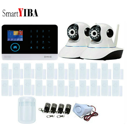 SmartYIBA Intelligent LCD Touch Screen Wireless 3G WIFI GPRS SMS Call App Alert Android iOS Burglar ALARM SYSTEM SECURITY HOME