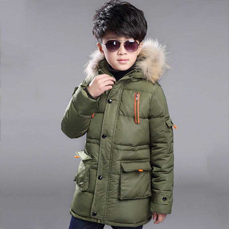 Kids boys winter padded jacket winter 2016 fashion baby boy clothing big virgin thicker coat 6/7/8/9/10/11/12/13/14 years цены онлайн