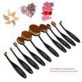 Oval RUIMIO 10 unids Fundación Cepillo de Cejas Delineador de Labios Pincel de Maquillaje Profesional Fundación Powder Brush Kit (Negro)