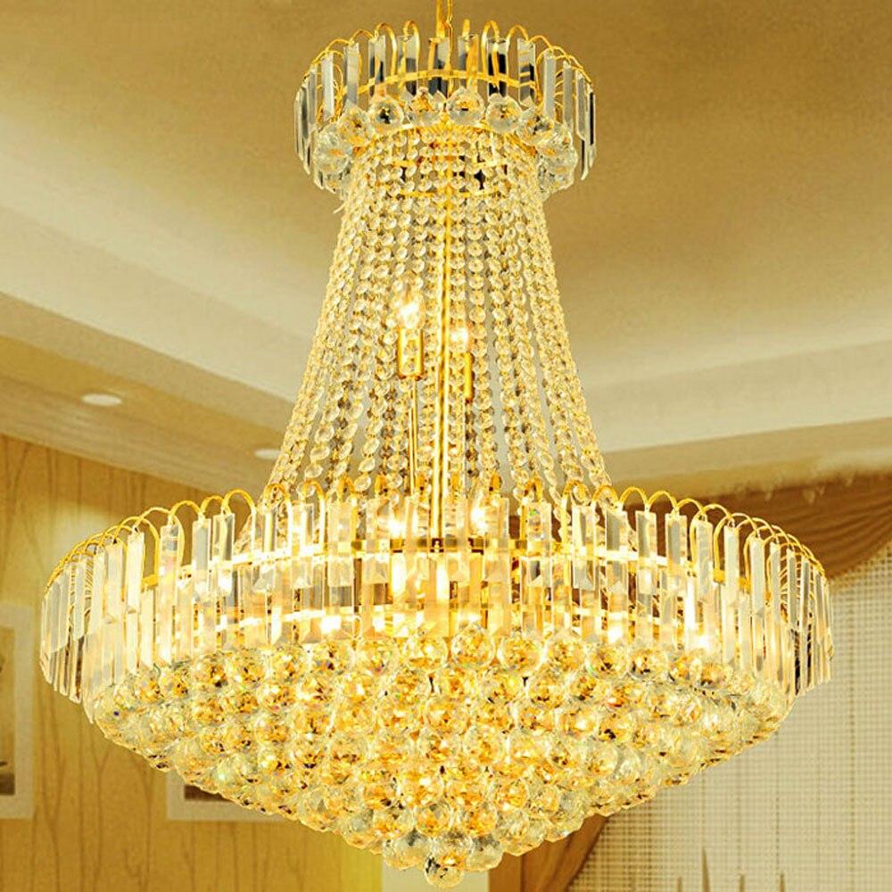 Simple modern duplex office staircase golden crystal chandelier European restaurant atmosphere living room hotel engineering LED evolis avansia duplex expert smart