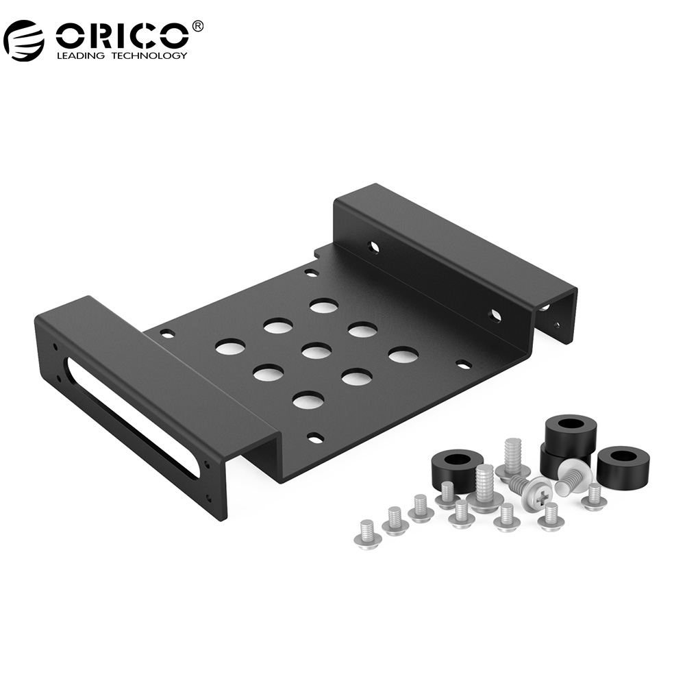 ORICO Aluminum 5.25 inch to 2.5 or 3.5 - inch All - in - 1 Hard Drive HDD SSD Converter Adapter Mounting Bracket( AC52535-1S-V1) orico aluminum 2 5 3 5 inch hard drive bracket converter