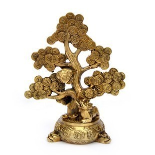 the copper money tree feng shui ornaments shaking qian shu coins money tree tree decorations. Black Bedroom Furniture Sets. Home Design Ideas