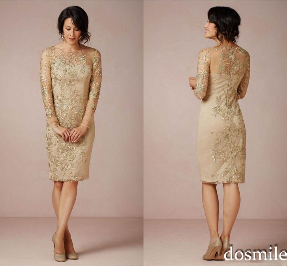 Popular Gold Mother of The Bride Dresses-Buy Cheap Gold Mother of ...