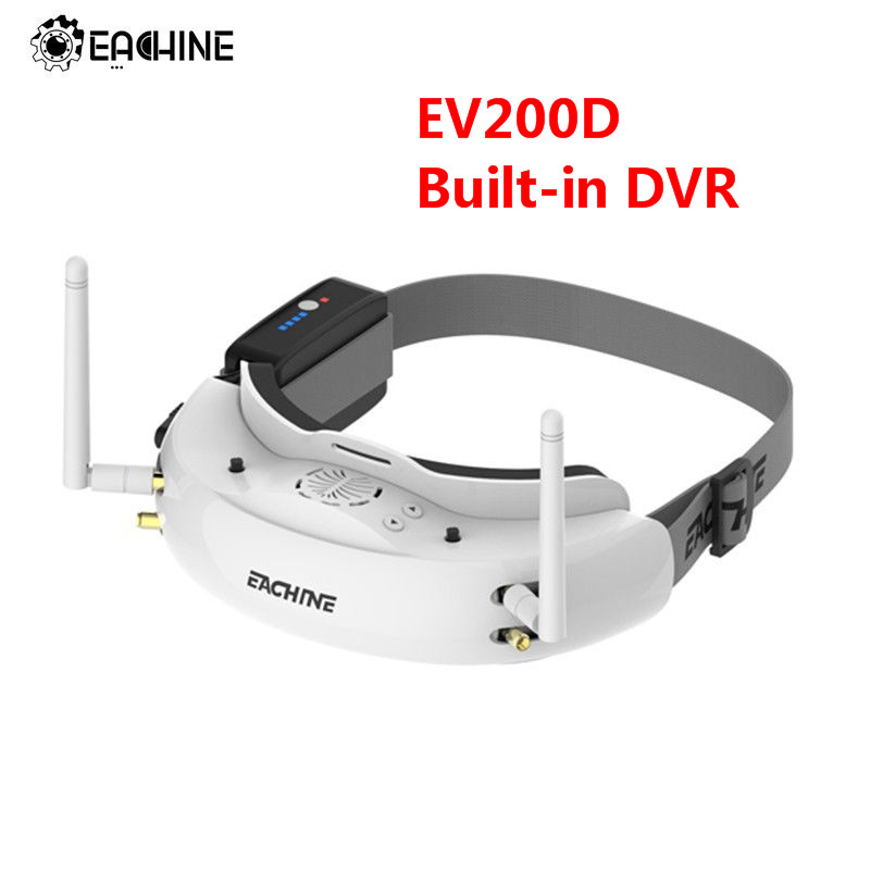 Eachine EV200D 1280*720 5.8G 72CH Vrai Diversité lunettes fpv HD Port dans 2D/3D Intégré DVR Pour RC Racing drone fpv Partie
