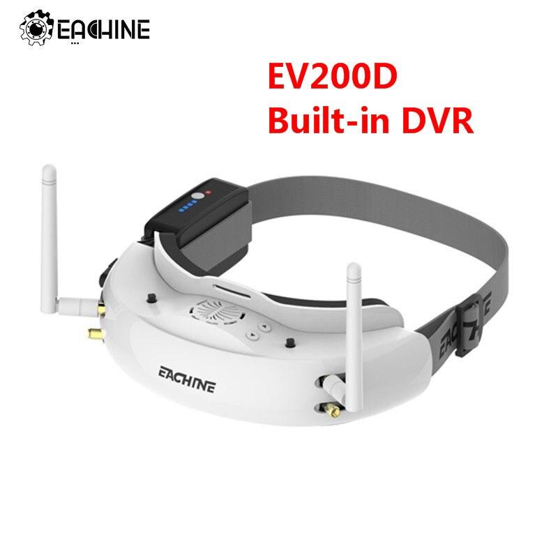 Eachine EV200D 1280*720 5,8G 72CH verdadera diversidad FPV gafas HD Puerto en 2D/3D DVR incorporado para RC Racing FPV Drone parte