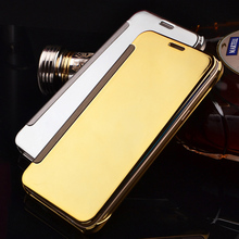 Luxury Mirror Flip Case For Samsung Galaxy A5 2015 Clear View Case For Samsung A5 2015 A500 A500F A5000 Cover Fundas 5.0 inch