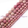 """Natural Rodonita Rodada Rosa Gem Stone Beads Strand 15 """"4,6, 8,10, 12mm Para DIY Colar Bracelat Fazer jóias, Frete Grátis"""