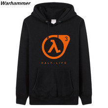 Mens Hoodies & Sweatshirts Tracksuit Letters Printed HALF LIFE game player regular sweatshirt Black Big Size Thick Fleece Jacket