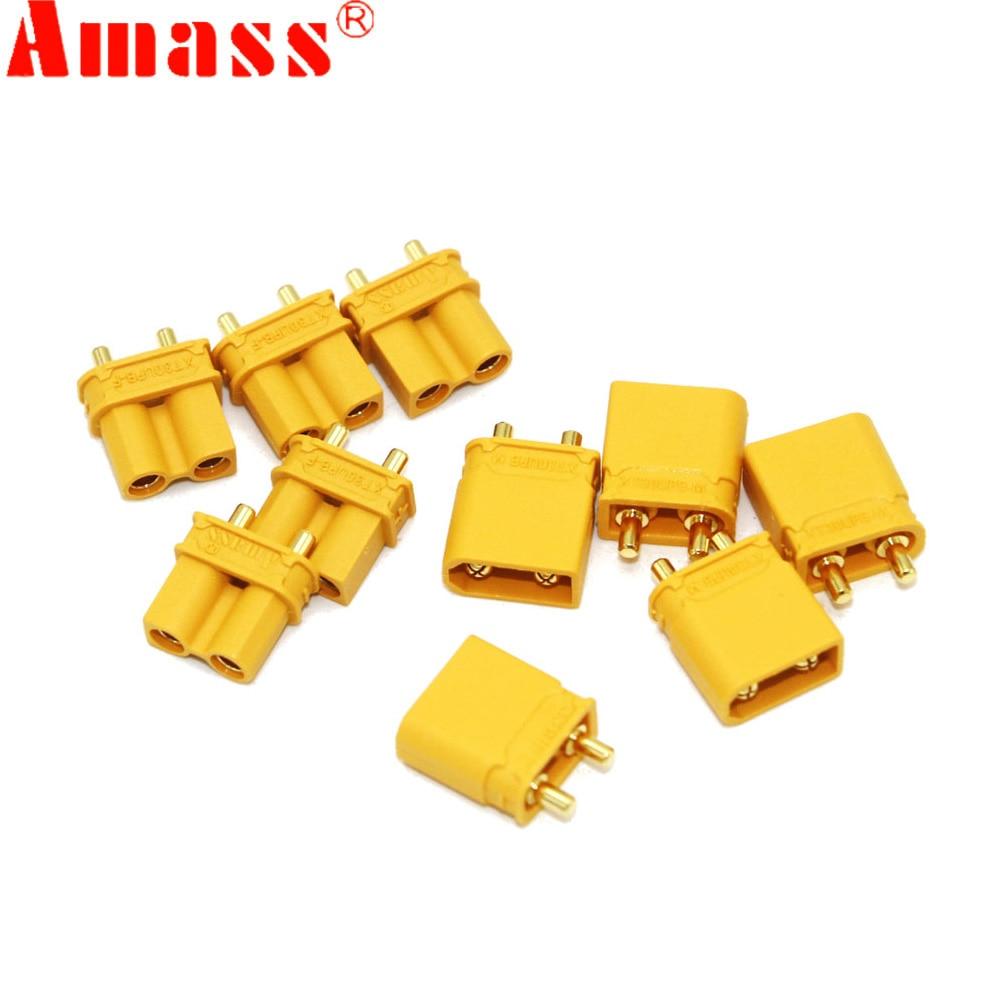 10pcs Amass XT30UPB XT30 UPB 2mm Plug Male Female Bullet Connectors Plugs For RC Lipo Battery (5 Pair)