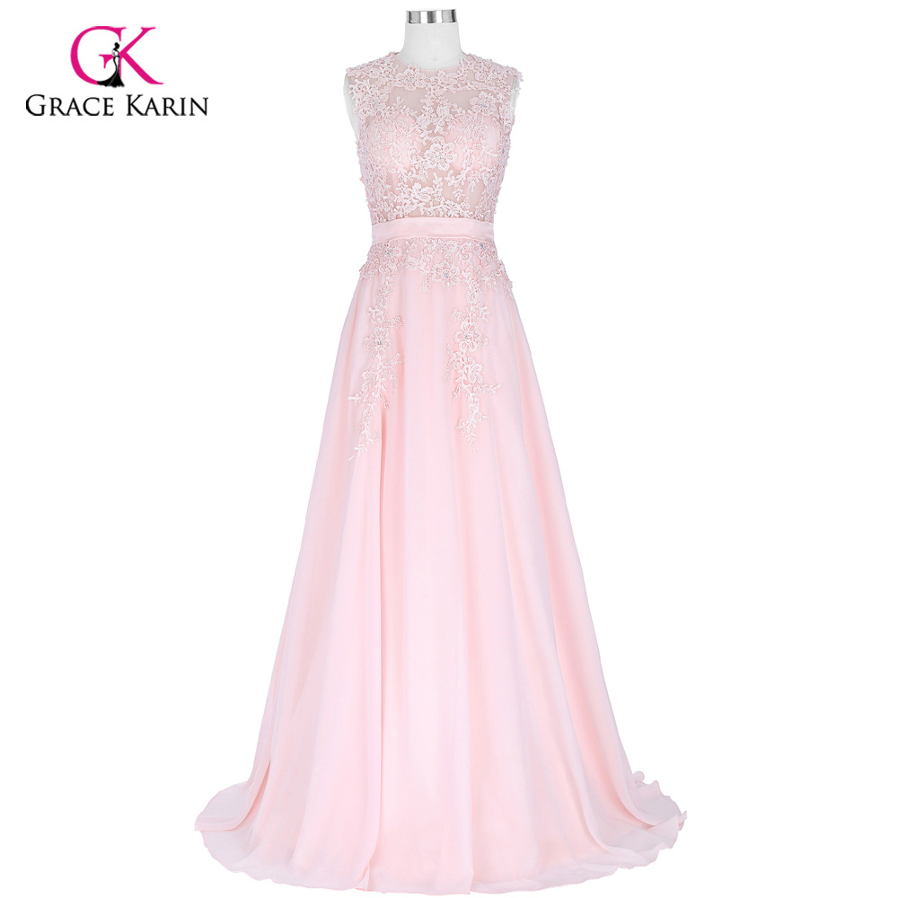 Grace Karin Beaded Chiffon Women Long Pink Prom Dresses 2018 Formal ...