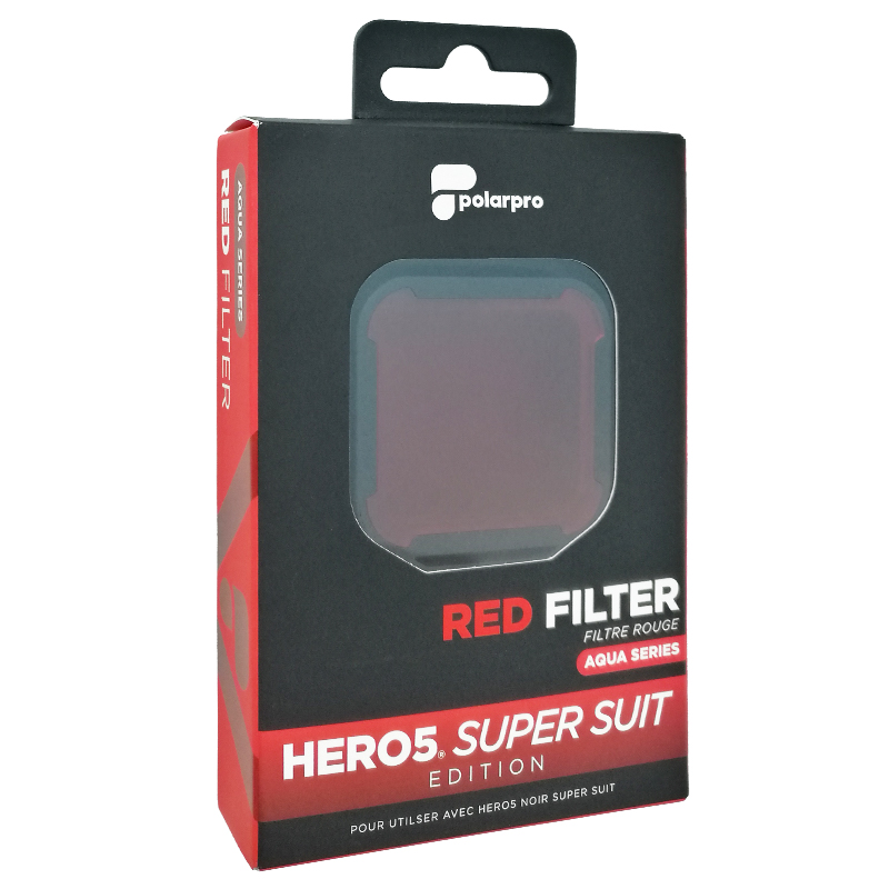 PolarPro Red Filter for GoPro Hero7 Black / Hero6 / Hero5 Super Suit Housing