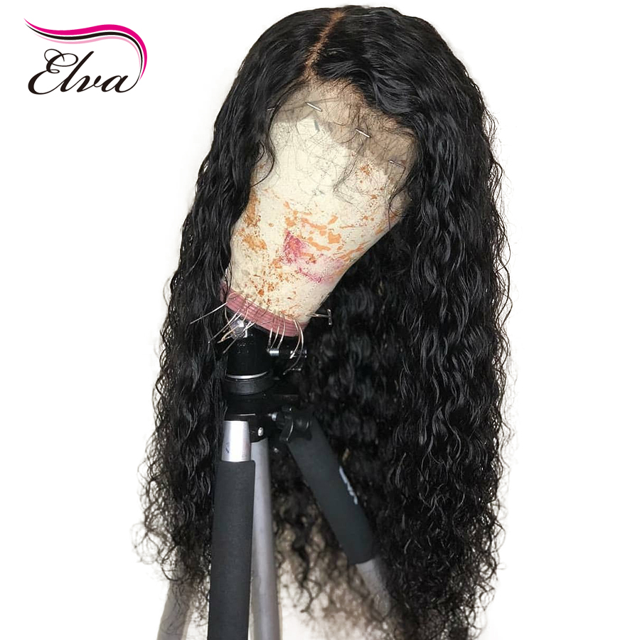 Elva 13x4 Lace Front Human Hair Wigs with Baby Hair Pre Plucked Hairline Bleached Knots for