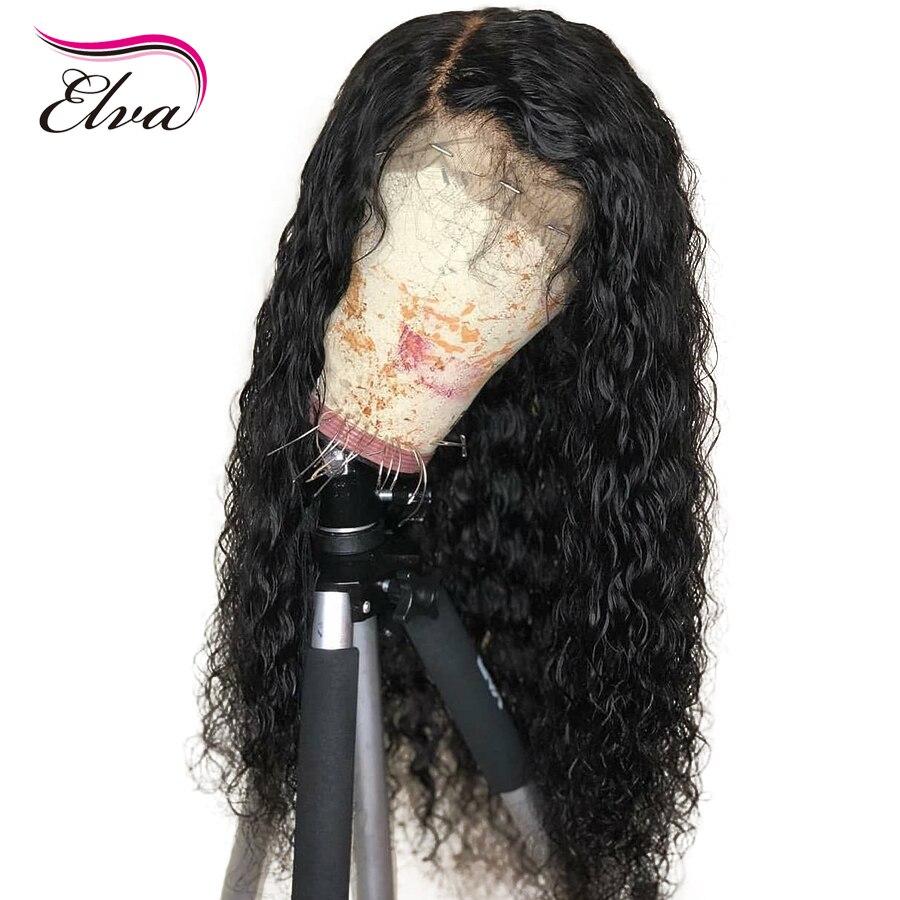 Elva Brésilienne cheveux remy 13x4 Dentelle Avant de cheveux humains Perruques avec Bébé Cheveux Pré Pincées Dégarni Blanchis Noeuds pour Noir femmes