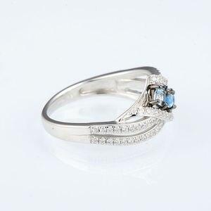 Image 5 - SANTUZZA כסף טבעות לנשים 925 סטרלינג כסף כחול אבן טבעות מעוקב Zirconia טבעת טרנדי המפלגה תכשיטים