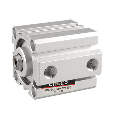 цена на SDA Series Double Action 32mm Bore 25mm Stroke Compact Thin Air Cylinder  Free Shipping