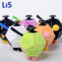 Lis NEW FIDGET CUBE 2 FUN ANTI STRESS TOYS RELIEVER GIFTS 12 SIDED MAGIC CUBE FOR
