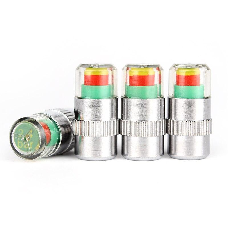 4pcs/lot  Valve Stem Cap Sensor Indicator Hot  2.4bar 36PSI  3 Color Alert  New Car Accessories Car Tyre Tire Pressure Monitor 12