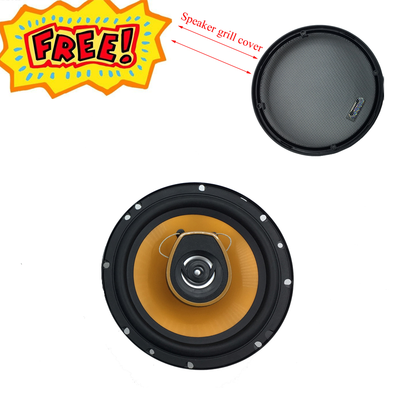 Top Car Speaker 6.5 Inch Audio 400W 4ohm 2 Way Mid-Bass Midrange Audio Component System Coaxial Speakers Free Shipping